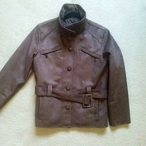 NEW Men Real Brown Suede Moto Jacket AC Collection